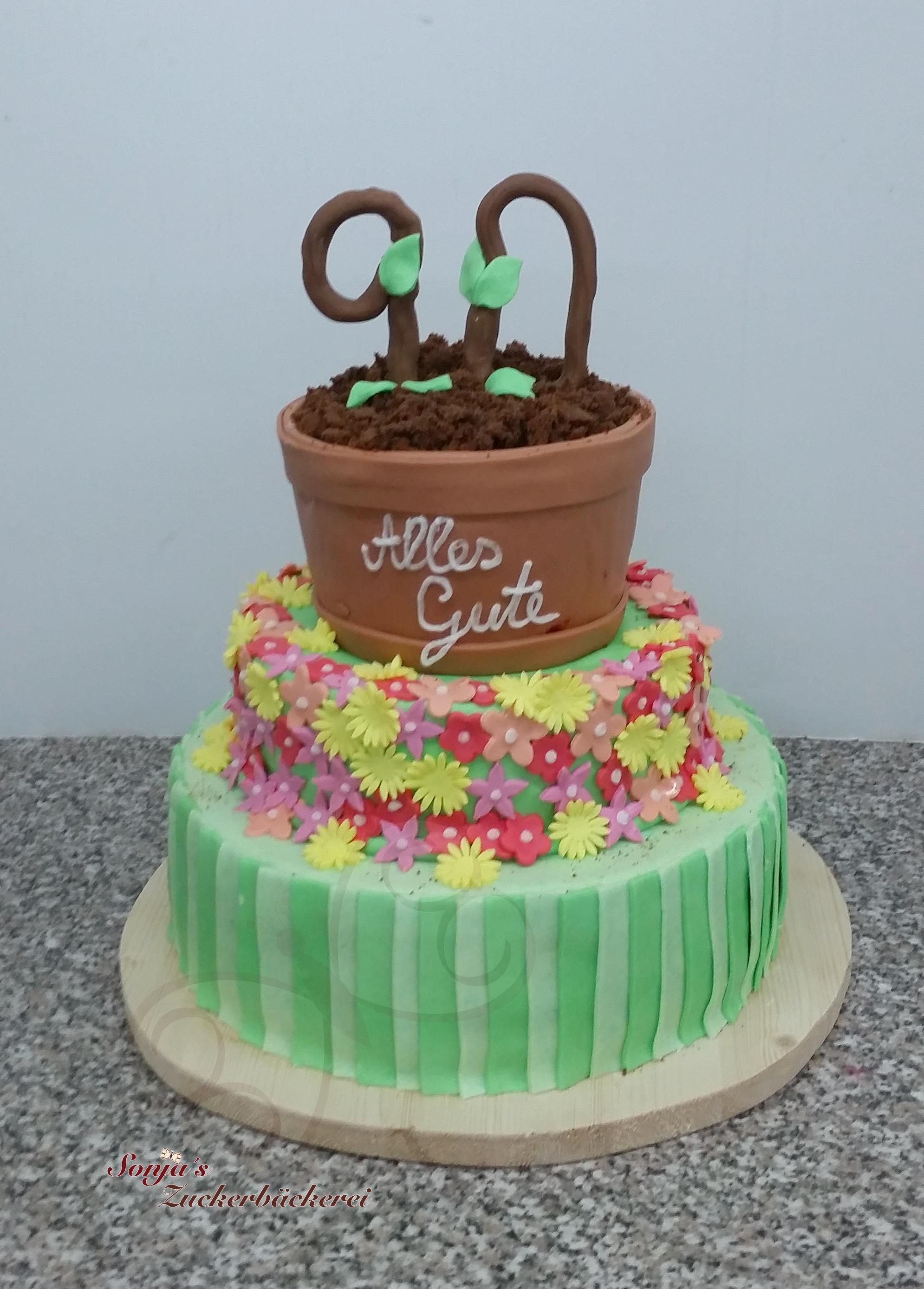 3 Stöckige Torte Zum Geburtstag Sonjas Zuckerbäckerei