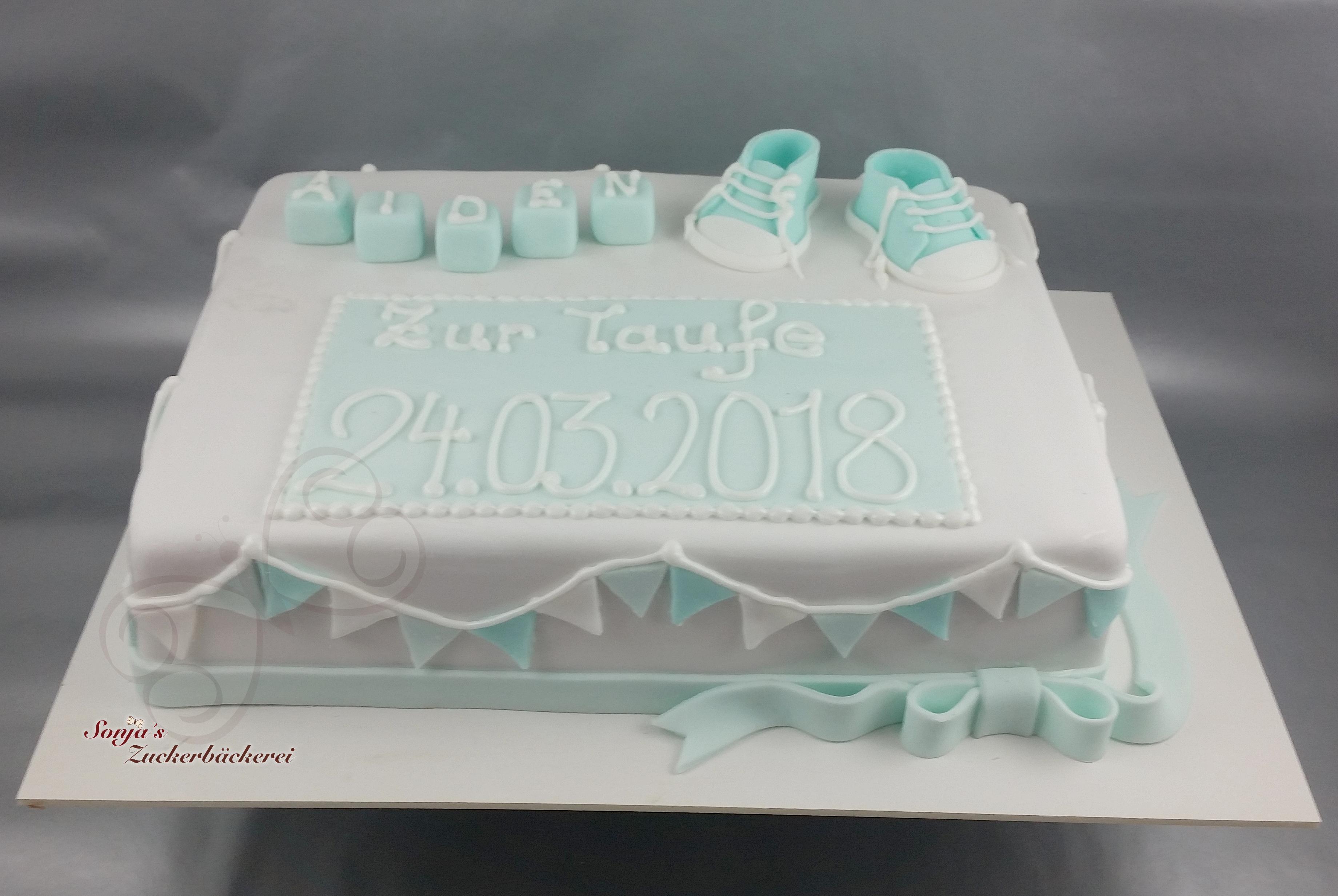 Rechteckige Torte Zur Taufe Sonjas Zuckerbäckerei