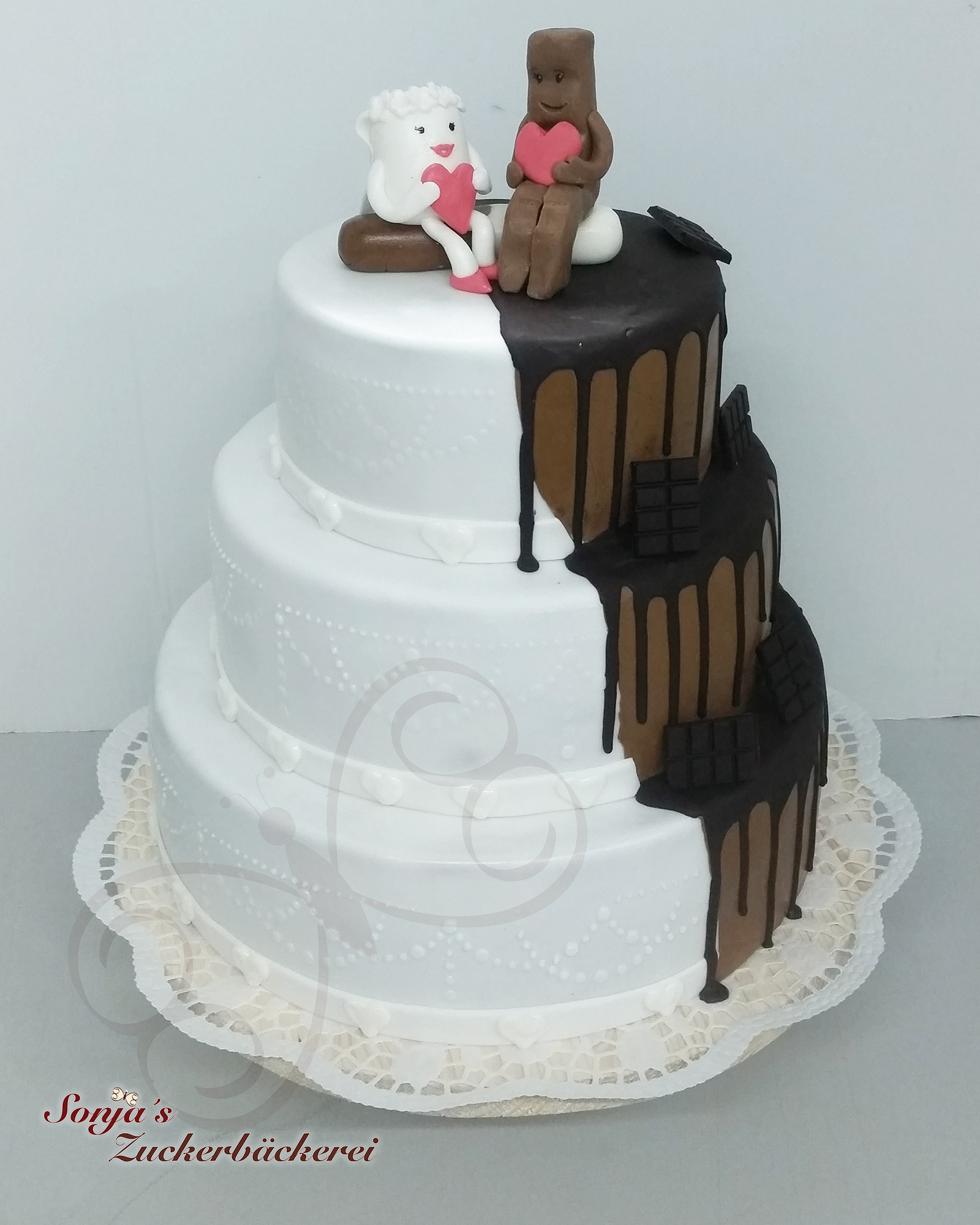 Hochzeitstorte Milch Und Schokolade Sonja S Zuckerbackerei